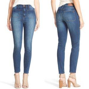 Madewell High Waisted Sailor Skinny Blue Jeans 32